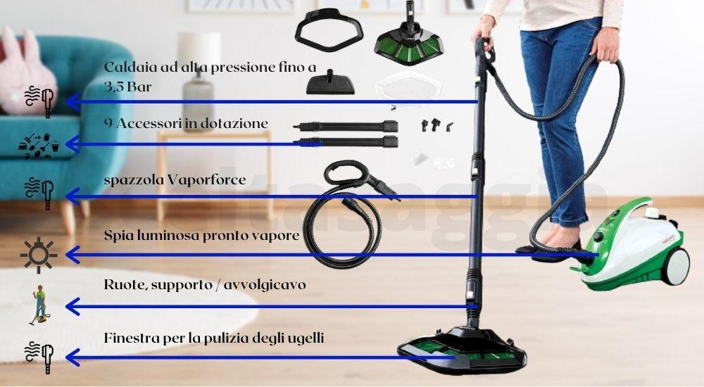 macchine a vapore per pulizia domestica